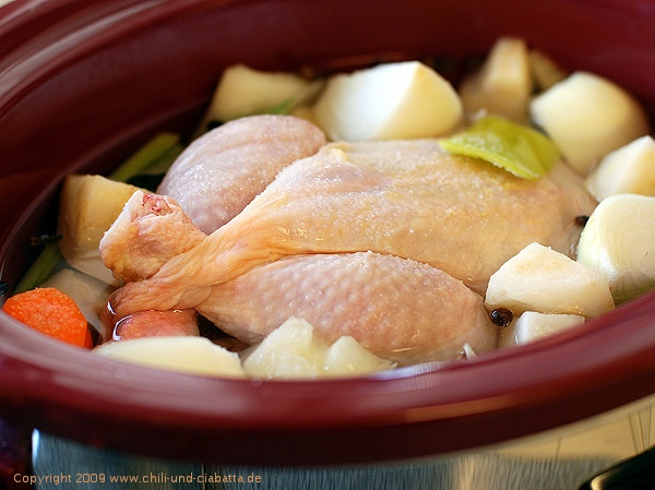Huhn im Crockpot