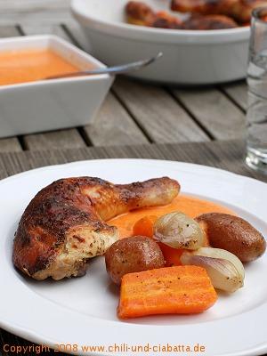 Huhn mit Gemüse
