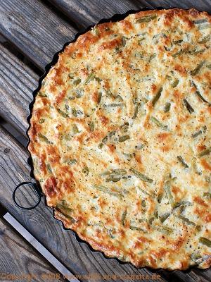 Kartoffelkuchen mit grünen Bohnen