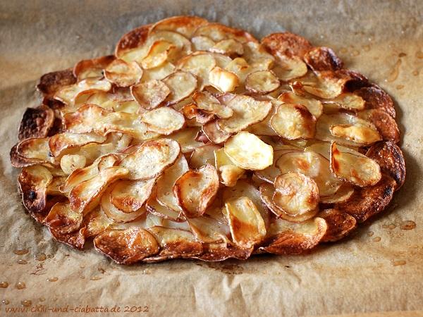Kartoffel-Galette gebacken