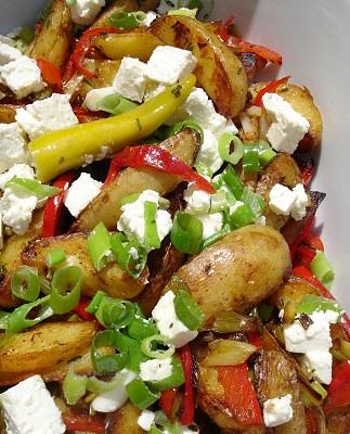 Kartoffel-Gyros mit Feta