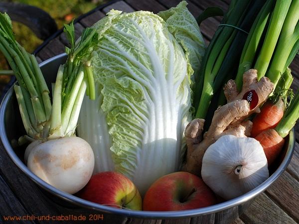 Gemüse für Kimchi
