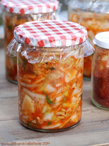 Kimchi im Glas