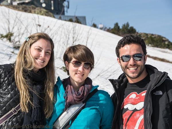 Livia, Kathi und Luis auf dem Großen Arber