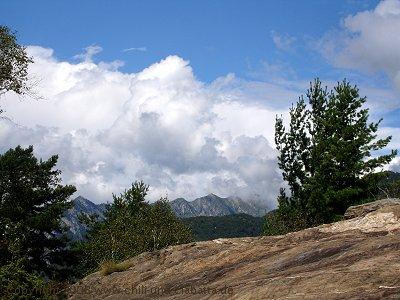Blick auf Berge
