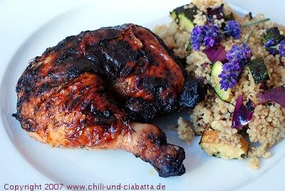 Rosmarin-Lavenden-Hähnchen vom Grill