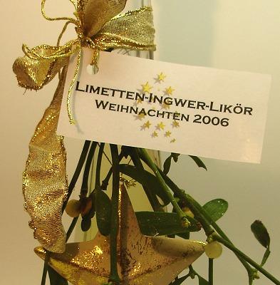 Limetten-Ingwer-Likör 2