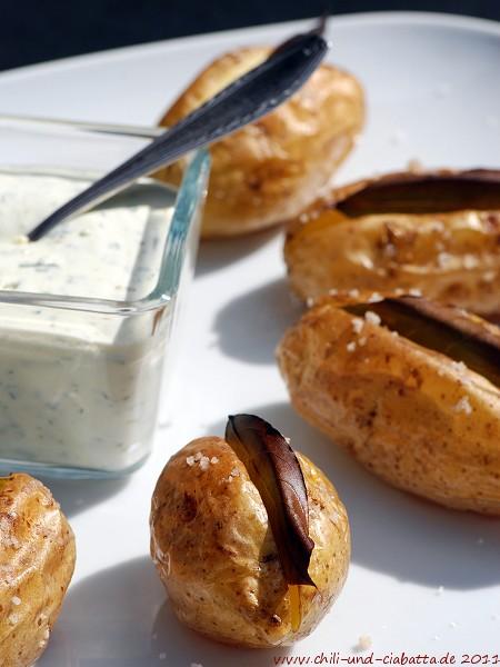 Lorbeer-Kartoffeln mit Schabziger-Creme