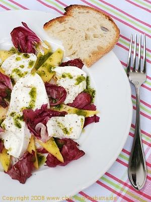 Mango-Radicchio-Mozzarella-Salat
