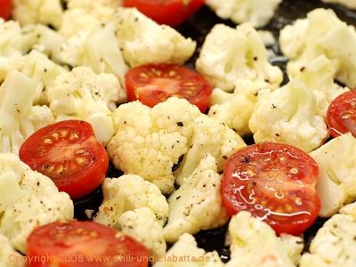 Blumenkohl und Tomaten