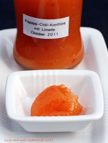 Papaya-Chili-Konfitüre mit Limette