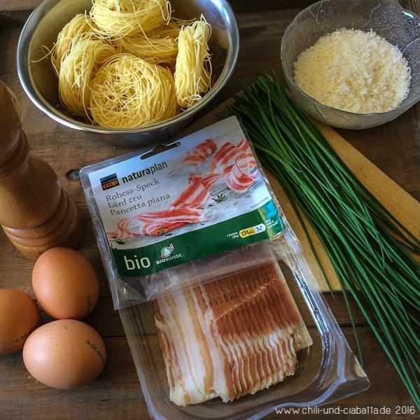 Pasta-Omelett Zutaten