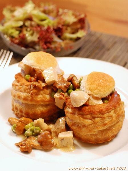 Pastetchen mit Huhn und Pfifferlingen