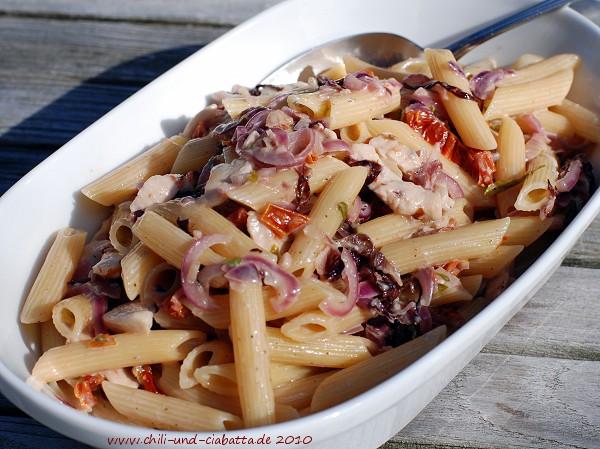 Penne mit Radicchio-Gorgonzola-Sauce