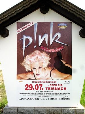 Plakat Pink in Teisnach
