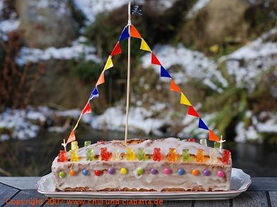 Geburtstagskuchen als Schiff