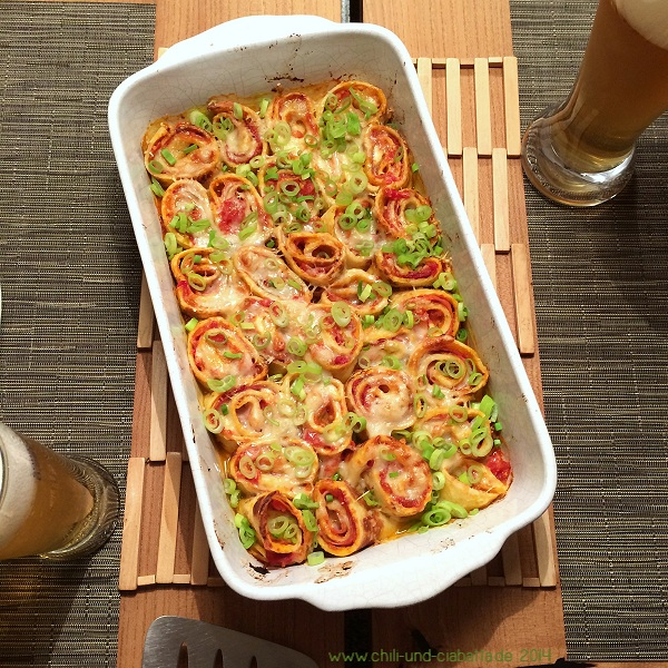 Pizzapfannkuchen-Auflauf