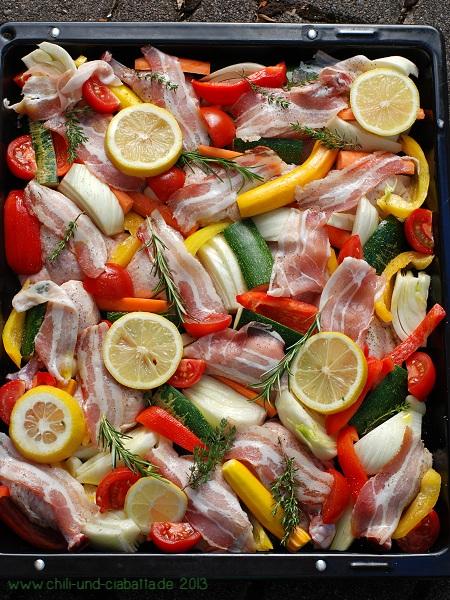 Pollo al forno vorher
