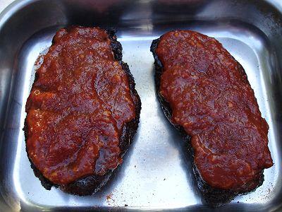 geräucherte Steaks mit Barbecuesauce