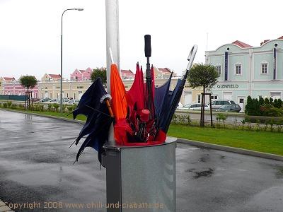 Regenschirmgrab
