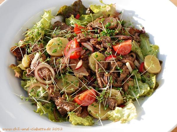 Tafelspitz-Salat mit Kernöl-Vinaigrette