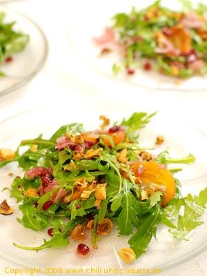 Sharon-Granatapfel-Rucola-Salat