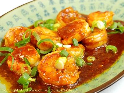 Shrimps nach Sichuan-Art