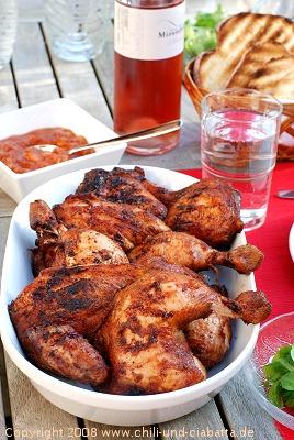 Southern BBQ Chicken mit Pfirsich Chutney