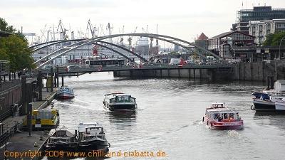 Speicherstadt Blick Richtung Hafen