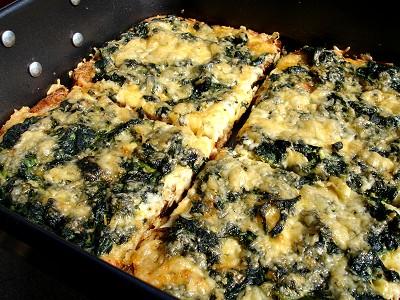 Spinat-Käse-Strata