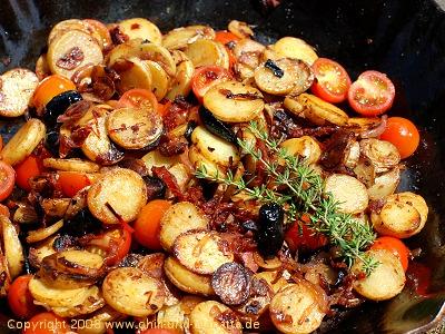 Südliche Kartoffelpfanne