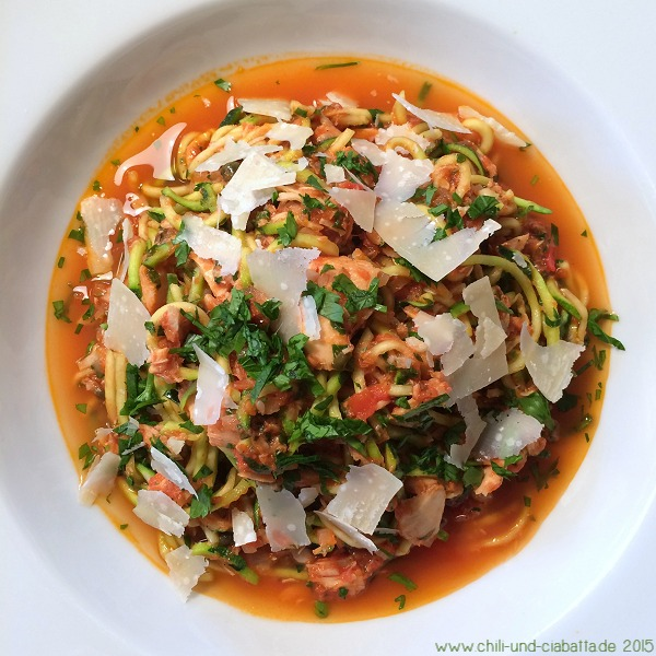 Tomaten-Thunfisch-Zoodles