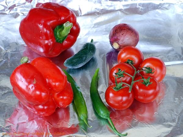 Gemüse vor dem Backen