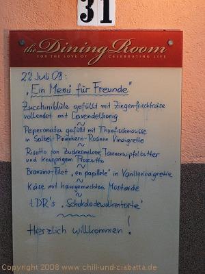 The Dining Room Karte